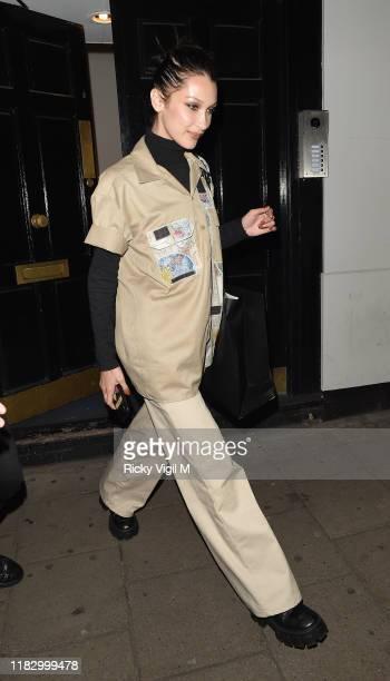 Bella Hadid seen leaving Dean Street Studios on October 23 2019 in London England