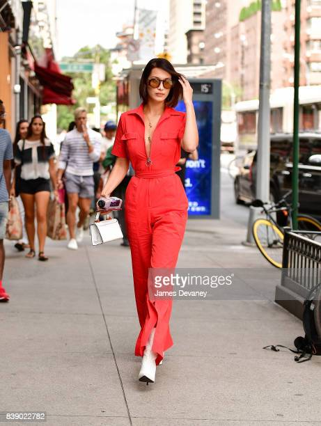 Bella Hadid seen on the streets of Manhattan on August 25 2017 in New York City