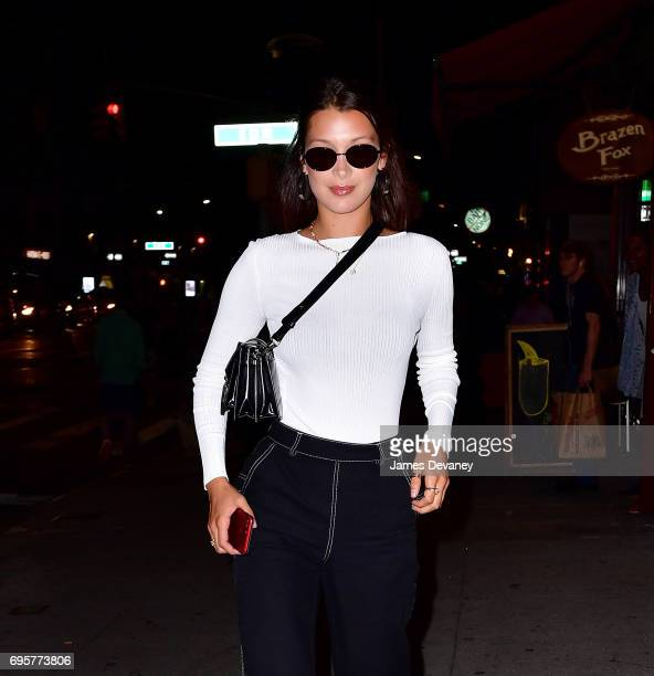 Bella Hadid seen on the streets of Manhattan on June 13 2017 in New York City