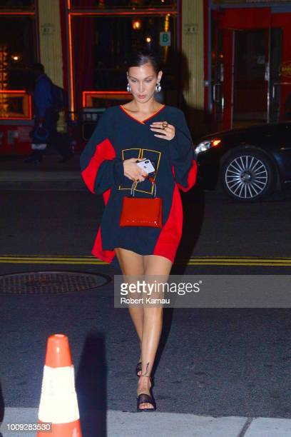 Bella Hadid seen out and about in Manhattan on August 1 2018 in New York City