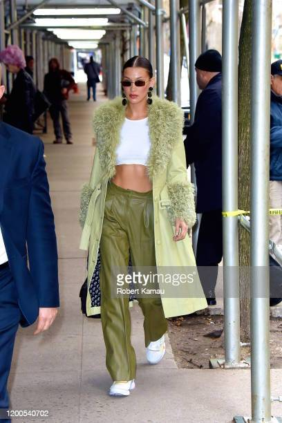 Bella Hadid seen out at a NYFW event in Manhattan on February 12 2020 in New York City