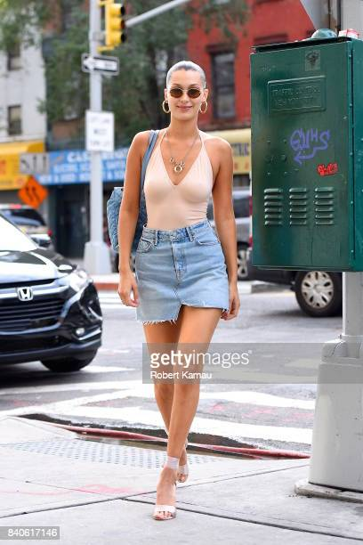 Bella Hadid seen out in Manhattan on August 28 2017 in New York City