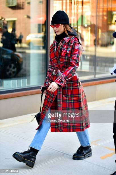 Bella Hadid seen walking in NoHo on January 31 2018 in New York City
