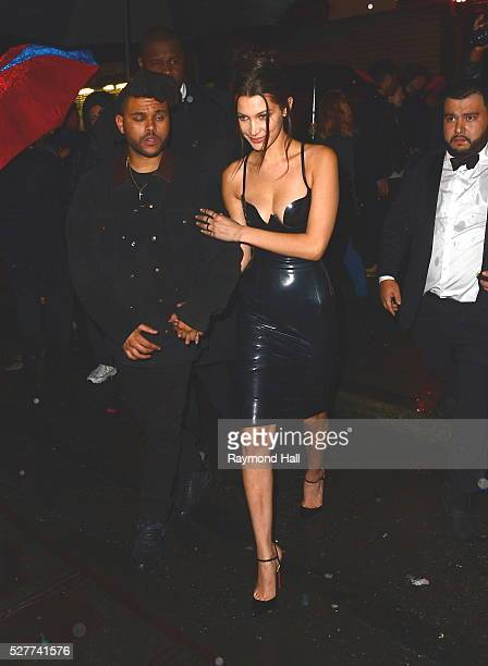Bella Hadid The Weeknd are seen coming out of Up and Down night Club on May 2 2016 in New York City