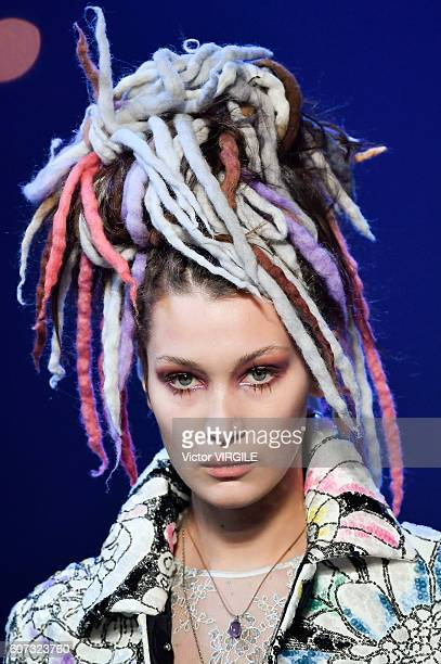 Bella Hadid walks the runway at Marc Jacobs Ready to Wear Spring Summer 2017 show during New York Fashion Week on September 15, 2016 in New York City.