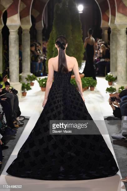Bella Hadid walks the runway at Oscar De La Renta during New York Fashion Week at the Cunard Building on February 12, 2019 in New York City.