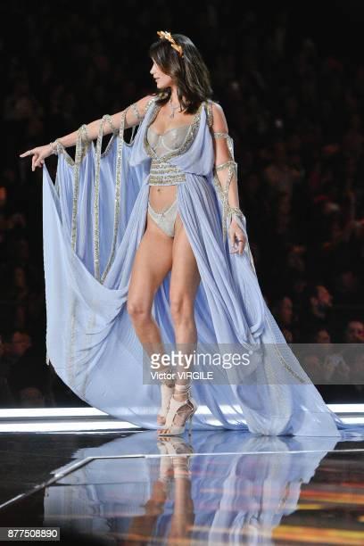 Bella Hadid walks the runway at the 2017 Victoria's Secret Fashion Show In Shanghai Show at MercedesBenz Arena on November 20 2017 in Shanghai China