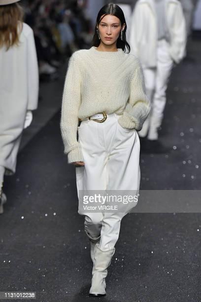 Bella Hadid walks the runway at the Alberta Ferretti Ready to Wear Fall/Winter 20192020 fashion show during Milan Fashion Week Autumn/Winter 2019/20...