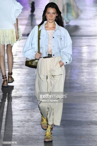 Bella Hadid walks the runway at the Alberta Ferretti show during Milan Fashion Week Spring/Summer 2019 on September 19 2018 in Milan Italy