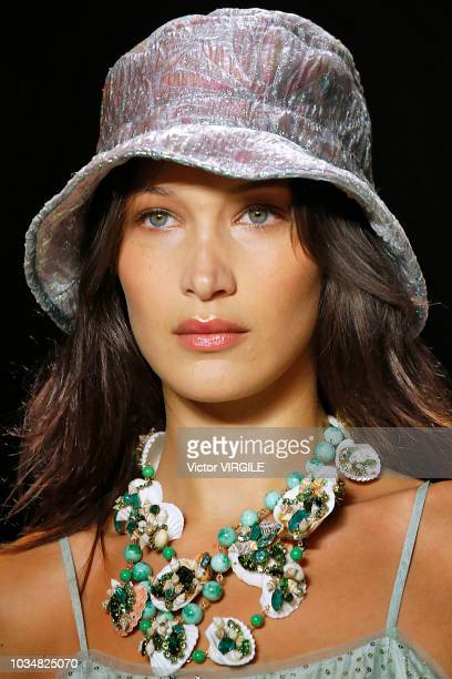 Bella Hadid walks the runway at the Anna Sui Spring/Summer 2019 fashion show during New York Fashion Week on September 10, 2018 in New York City.