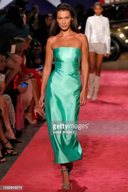 Bella Hadid walks the runway at the Brandon Maxwell Spring/Summer 2019 fashion show during New York Fashion Week on September 8 2018 in New York City