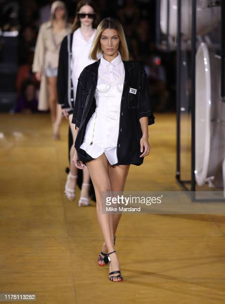 Bella Hadid walks the runway at the Burberry show during London Fashion Week September 2019 on September 16 2019 in London England