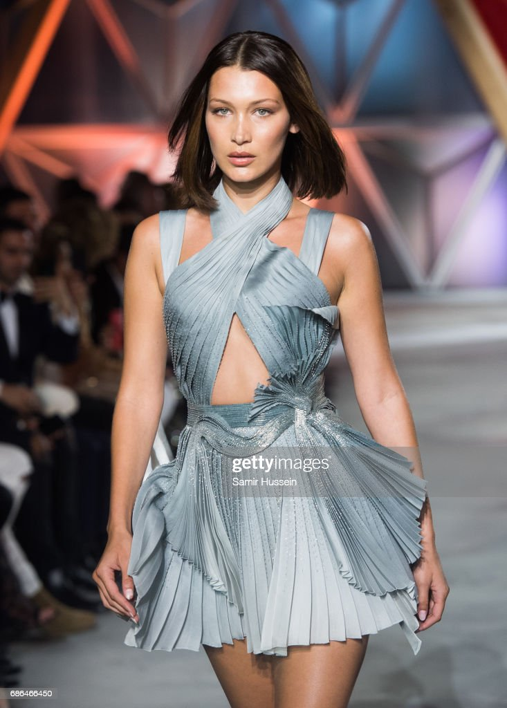 Bella Hadid walks the runway at the Fashion for Relief event during the 70th annual Cannes Film Festival at Aeroport Cannes Mandelieu on May 21, 2017 in Cannes, France.