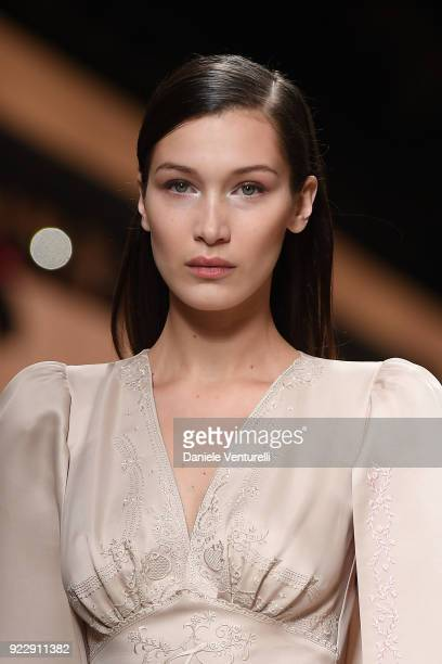 02f8ecb99beaf9 Bella Hadid walks the runway at the Fendi show during Milan Fashion Week  Fall Winter