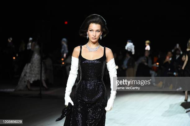Bella Hadid walks the runway at the Marc Jacobs Fall 2020 runway show during New York Fashion Week on February 12, 2020 in New York City.