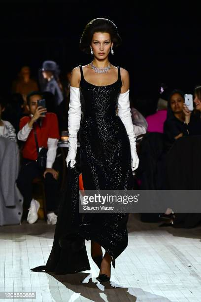 Bella Hadid walks the runway at the Marc Jacobs Fall 2020 runway show during New York Fashion Week on February 12 2020 in New York City