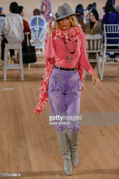 Bella Hadid walks the runway at the Marc Jacobs Ready to Wear Spring/Summer 2020 fashion show during New York Fashion Week on September 11 2019 in...