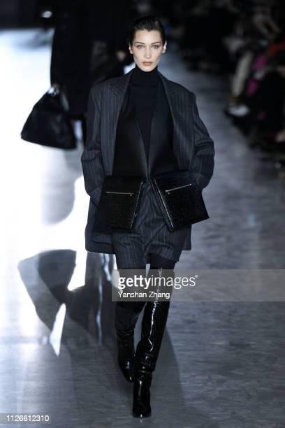 Bella Hadid walks the runway at the Max Mara show at Milan Fashion Week Autumn/Winter 2019/20 on February 21, 2019 in Milan, Italy.