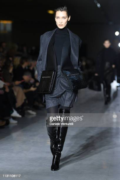Bella Hadid walks the runway at the Max Mara show at Milan Fashion Week Autumn/Winter 2019/20 on February 21 2019 in Milan Italy