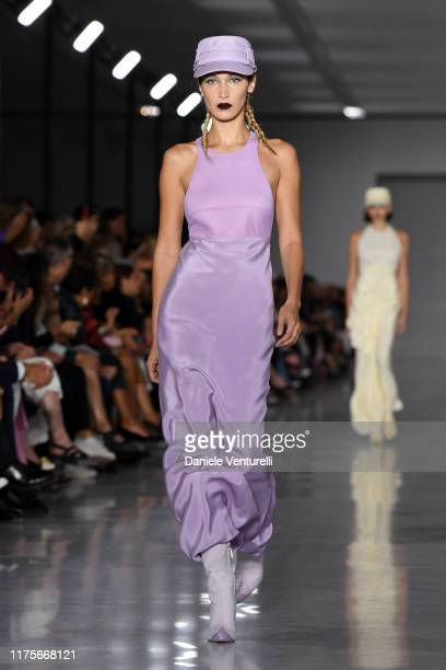 Bella Hadid walks the runway at the Max Mara show during the Milan Fashion Week Spring/Summer 2020 on September 19 2019 in Milan Italy