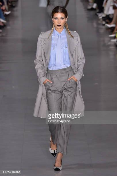 Bella Hadid walks the runway at the Max Mara show during the Milan Fashion Week Spring/Summer 2020 on September 19 2019 in Milan Italy