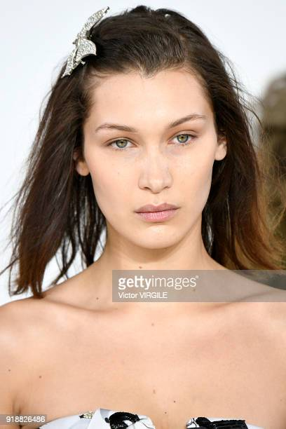 Bella Hadid walks the runway at the Michael Kors Ready to Wear Fall/Winter 20182019 fashion show during New York Fashion Week on February 14 2018 in...