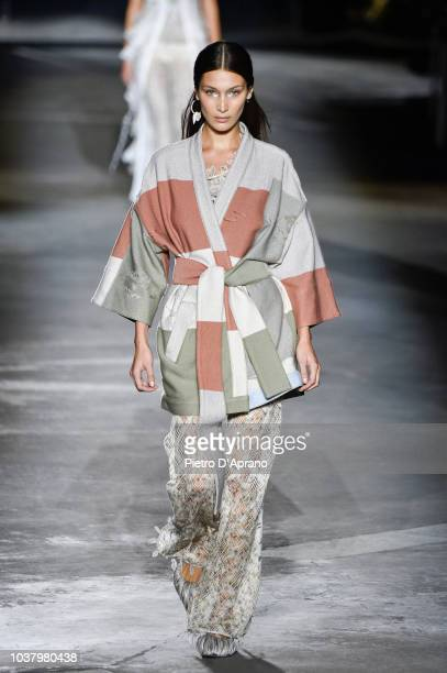 Bella Hadid walks the runway at the Missoni show during Milan Fashion Week Spring/Summer 2019 on September 22 2018 in Milan Italy