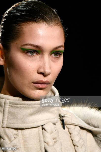 Bella Hadid walks the runway at the Prabal Gurung fashion show during New York Fashion Week Fall Winter 20172018 on February 12 2017 in New York City