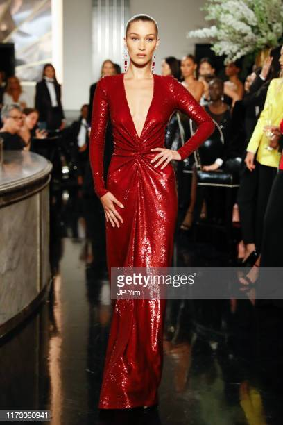 Bella Hadid walks the runway at the Ralph Lauren Fall 2019 Collection at William and Wall on September 07 2019 in New York City