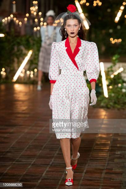 Bella Hadid walks the runway at the Rodarte Ready to Wear Fall/Winter 2020-2021 during New York Fashion Week on February 11, 2020 in New York City.