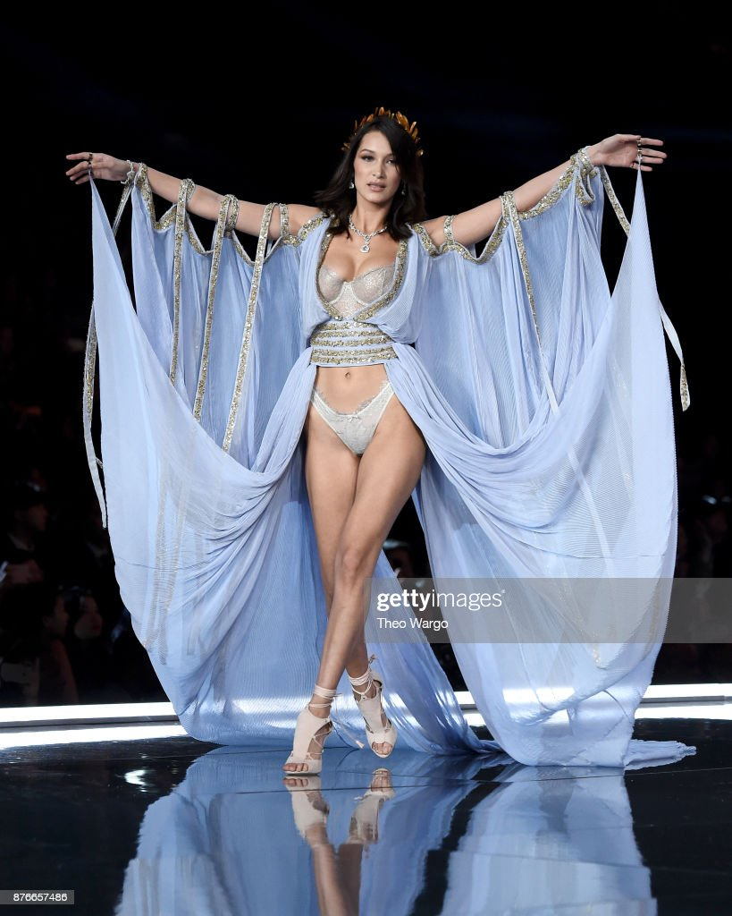 Bella Hadid walks the runway during the 2017 Victoria's Secret Fashion Show In Shanghai at Mercedes-Benz Arena on November 20, 2017 in Shanghai, China.
