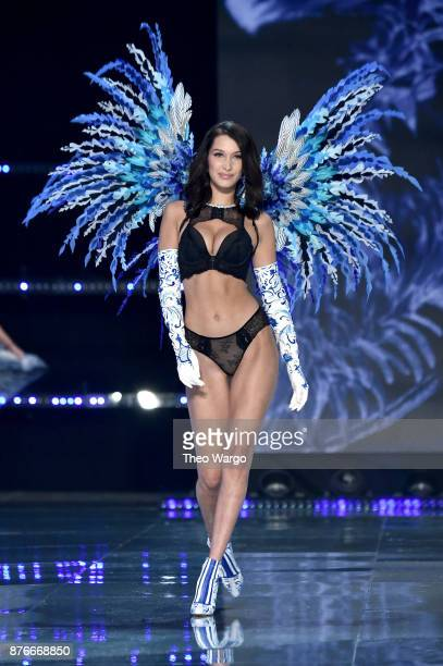 Bella Hadid walks the runway during the 2017 Victoria's Secret Fashion Show In Shanghai at MercedesBenz Arena on November 20 2017 in Shanghai China