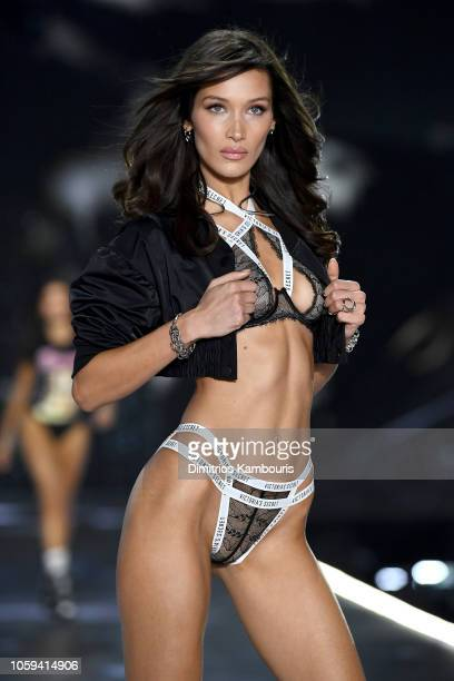 Bella Hadid walks the runway during the 2018 Victoria's Secret Fashion Show at Pier 94 on November 8 2018 in New York City