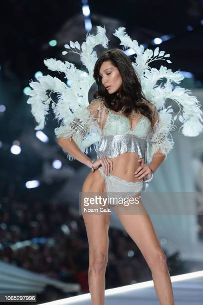 Bella Hadid walks the runway during the 2018 Victoria's Secret Fashion Show at Pier 94 on November 08, 2018 in New York City.