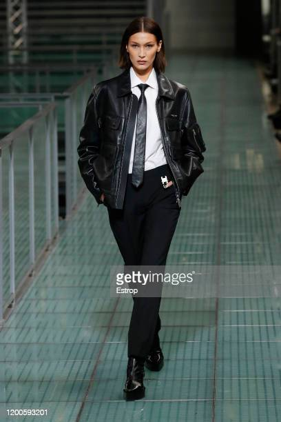 Bella Hadid walks the runway during the Alyx Menswear Fall/Winter 2020-2021 show as part of Paris Fashion Week on January 19, 2020 in Paris, France.