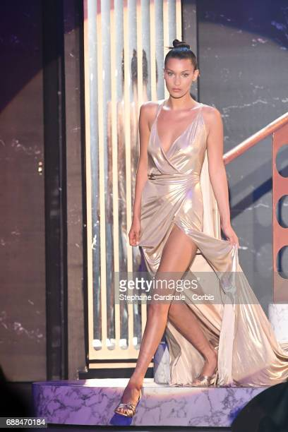 Bella Hadid walks the runway during the amfAR Gala Cannes 2017 at Hotel du CapEdenRoc on May 25 2017 in Cap d'Antibes France
