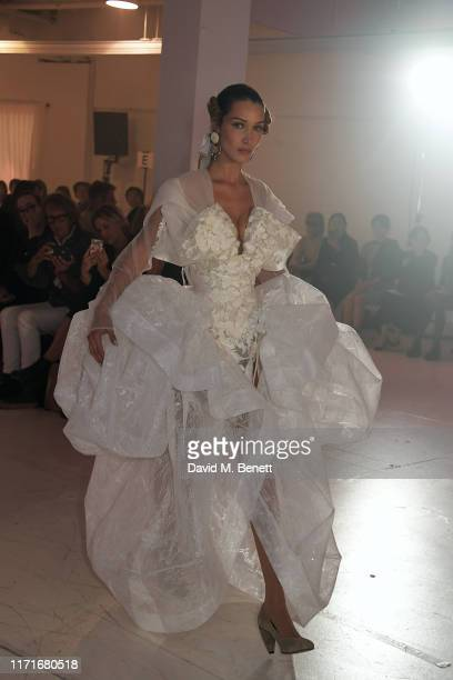Bella Hadid walks the runway during the Andreas Kronthaler For Vivienne Westwood Womenswear Spring/Summer 2020 show as part of Paris Fashion Week on...