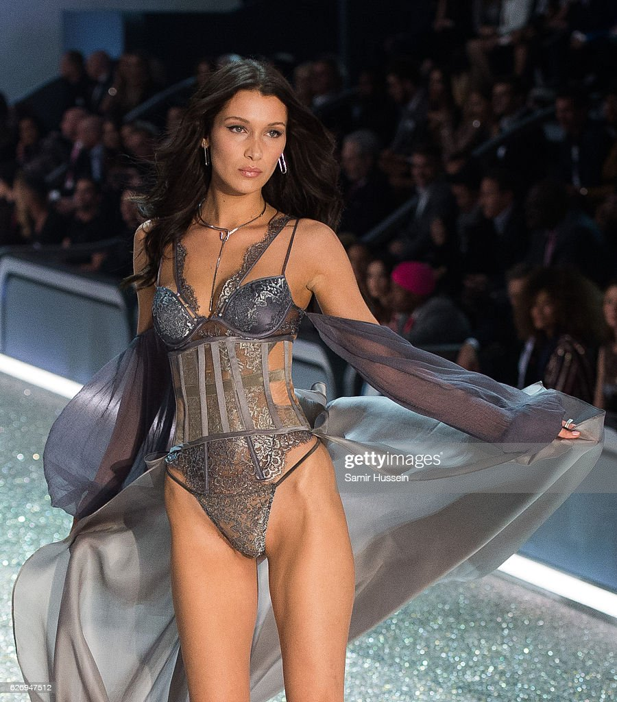 Bella Hadid walks the runway during the annual Victoria's Secret fashion show at Grand Palais on November 30, 2016 in Paris, France.