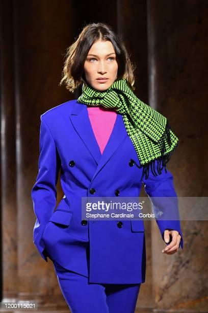 Bella Hadid walks the runway during the Berluti Menswear Fall/Winter 20202021 show as part of Paris Fashion Week at Opera Garnier on January 17 2020...