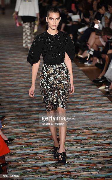 Bella Hadid walks the runway during the Christian Dior Spring Summer 2017 Cruise collection at Blenheim Palace on May 31 2016 in Woodstock England