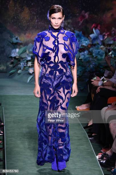 Bella Hadid walks the runway during the Fendi Haute Couture Fall/Winter 20172018 show as part of Haute Couture Paris Fashion Week on July 5 2017 in...