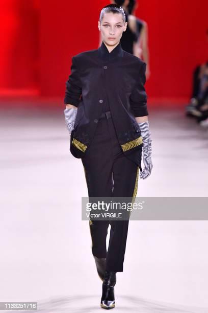 Bella Hadid walks the runway during the Haider Ackermann Ready to Wear fashion show as part of the Paris Fashion Week Womenswear Fall/Winter...