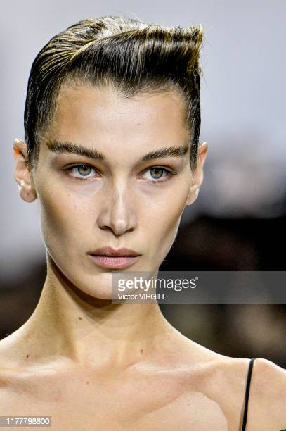 Bella Hadid walks the runway during the Haider Ackermann Ready to Wear Spring/Summer 2020 fashion show as part of Paris Fashion Week on September 28,...