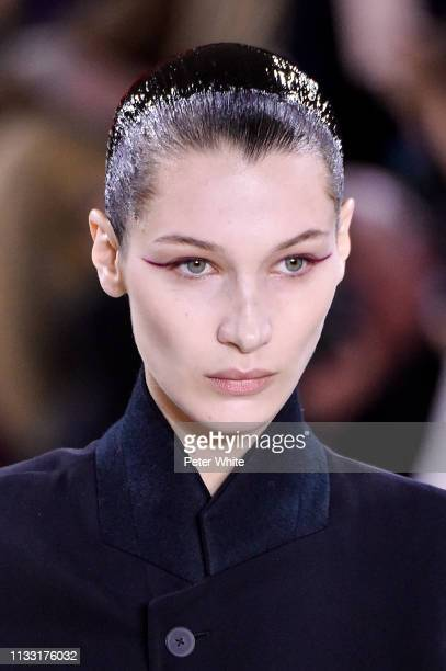 Bella Hadid walks the runway during the Haider Ackermann show as part of the Paris Fashion Week Womenswear Fall/Winter 2019/2020 on March 02, 2019 in...