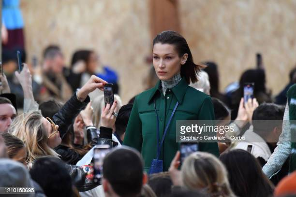 Bella Hadid walks the runway during the Lacoste as part of the Paris Fashion Week Womenswear Fall/Winter 2020/2021 on March 03 2020 in Paris France