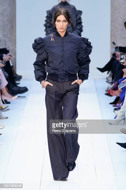 Bella Hadid walks the runway during the Max Mara fashion show as part of Milan Fashion Week Fall/Winter 20202021 on February 20 2020 in Milan Italy
