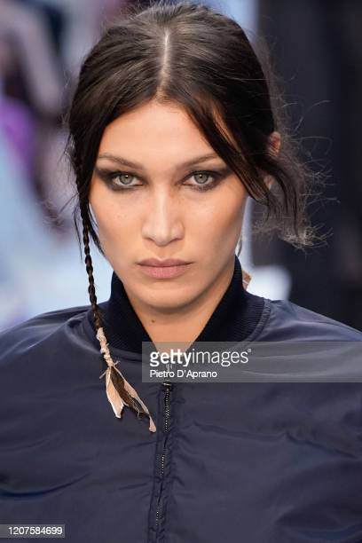 Bella Hadid walks the runway during the Max Mara fashion show as part of Milan Fashion Week Fall/Winter 2020-2021 on February 20, 2020 in Milan,...