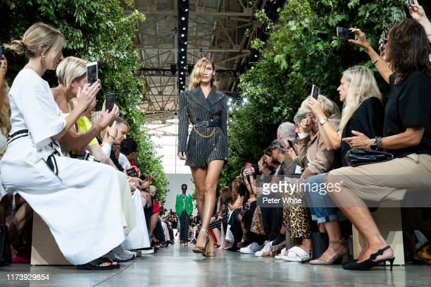 Bella Hadid walks the runway during the Michael Kors Collection Spring 2020 Runway Show on September 11, 2019 in New York City.
