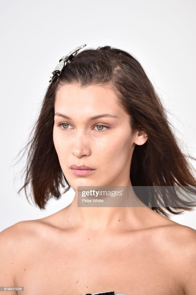 Bella Hadid walks the runway during the Michael Kors Collection Fall 2018 Runway Show at Vivian Beaumont Theatre at Lincoln Center on February 14, 2018 in New York City.