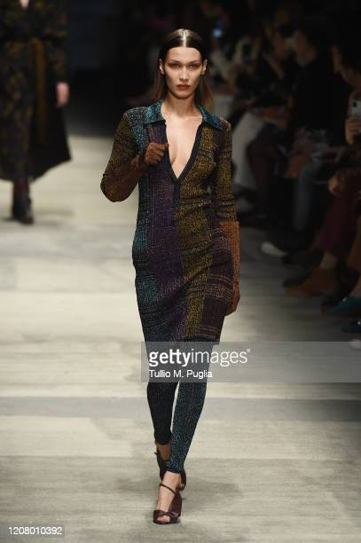 Bella Hadid walks the runway during the Missoni fashion show as part of Milan Fashion Week Fall/Winter 20202021 on February 22 2020 in Milan Italy